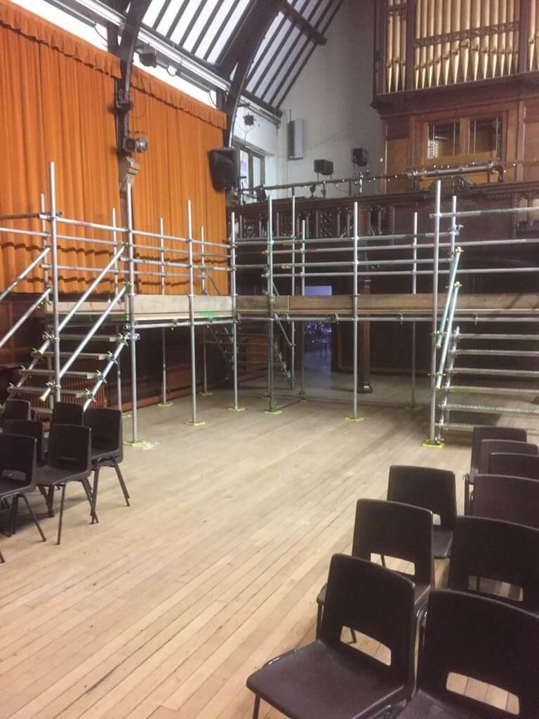 Newcastle School – Access around performance stage